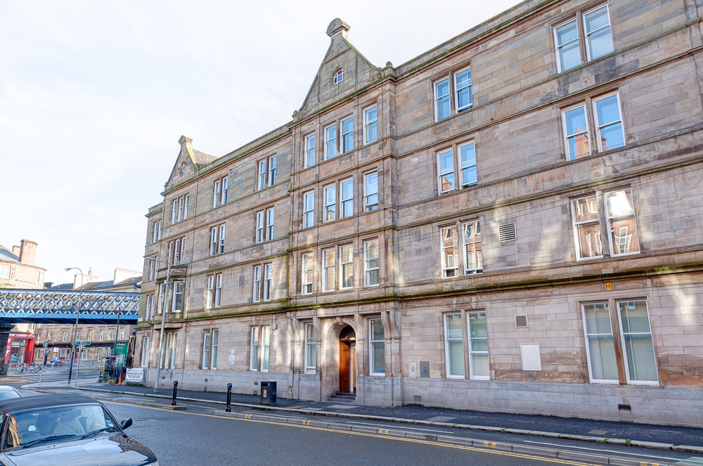 front of St Andrews Court in Glasgow