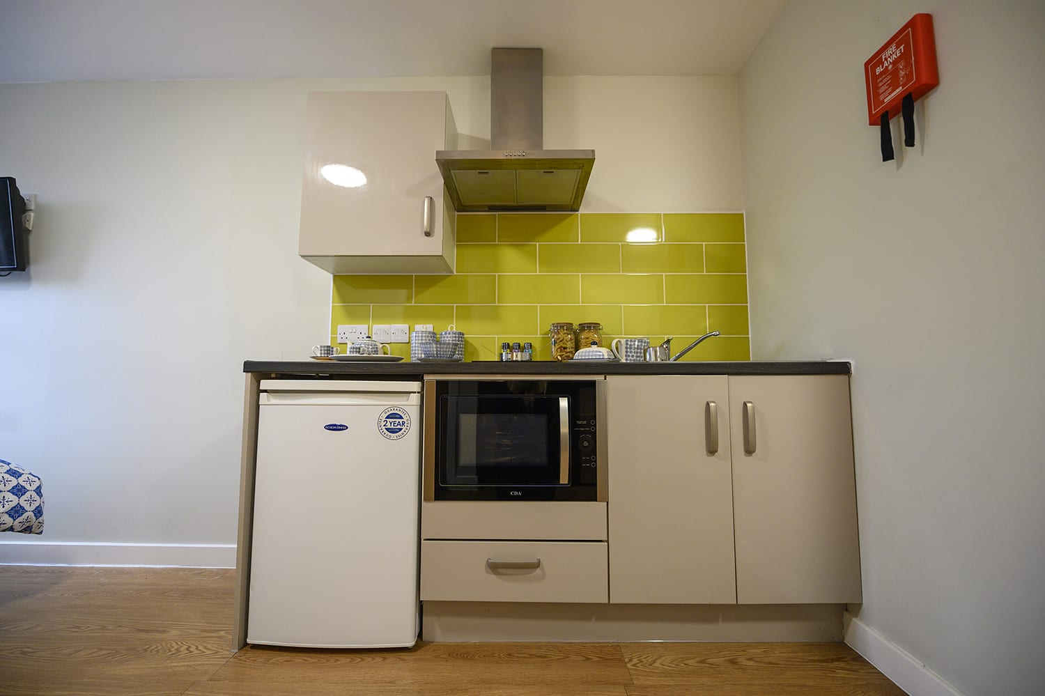 small kitchen in students flat at Chronicle House
