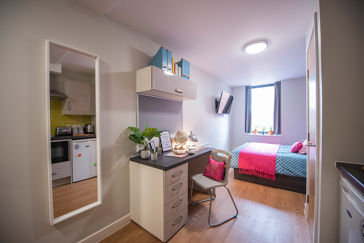 student bedroom at Chronicle House in Chester