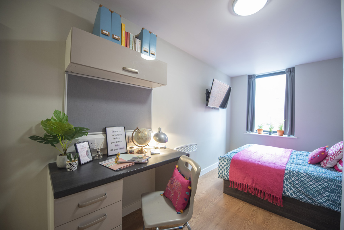 student studio apartment with single bed at Chronicle House