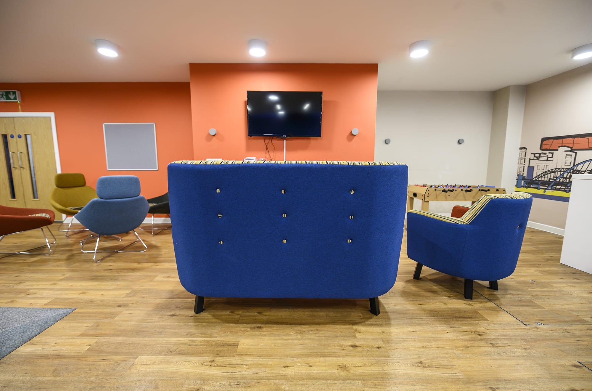 Student accommodation lounge
