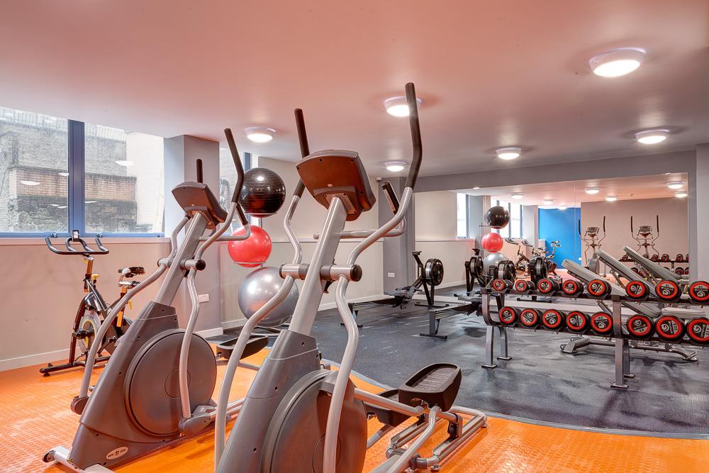 gym in Robert Owen House Glasgow