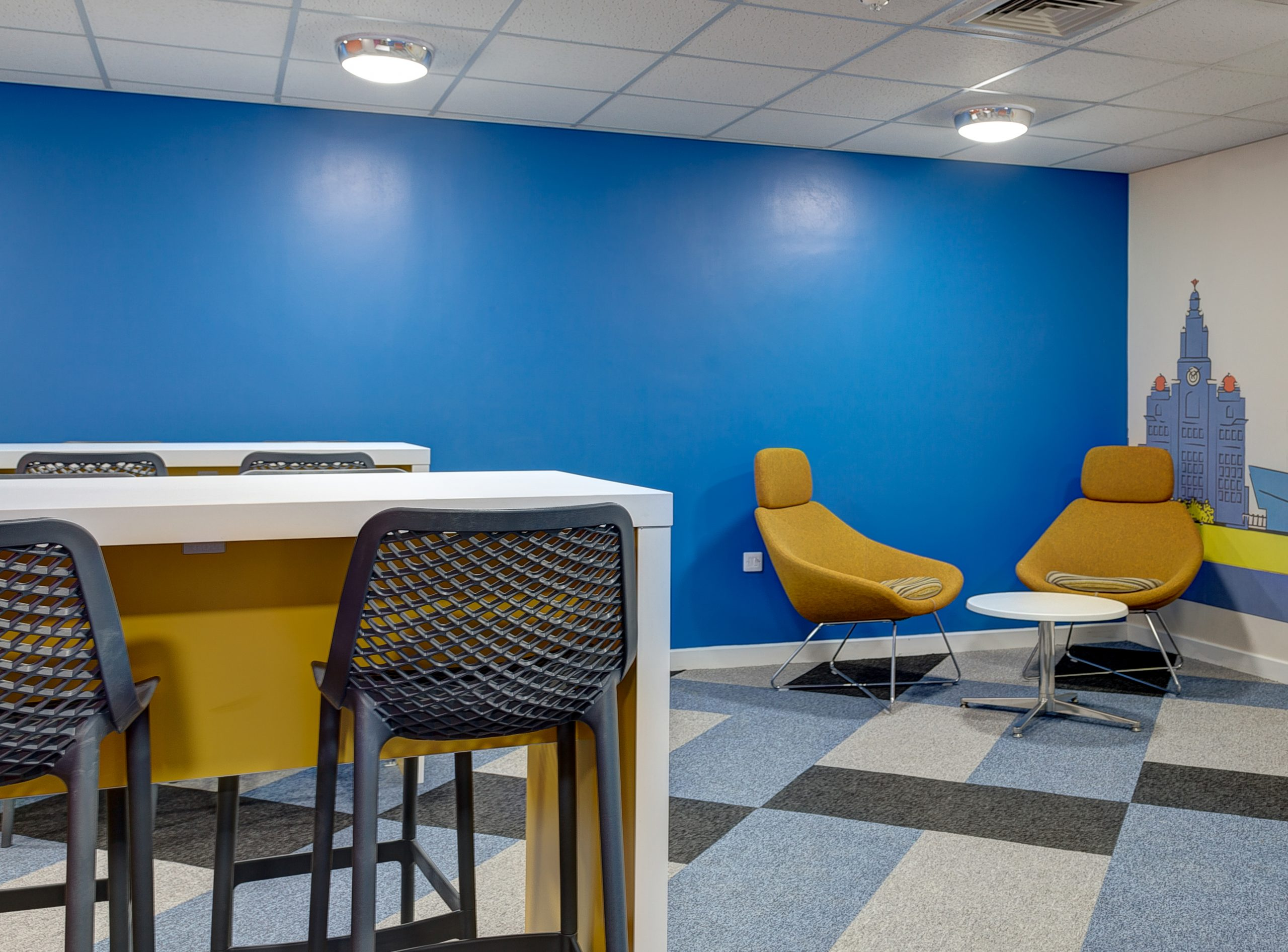 student breakout area Stanley Court Liverpool