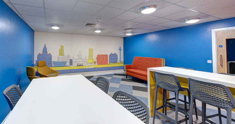 student area in Stanley Court Liverpool