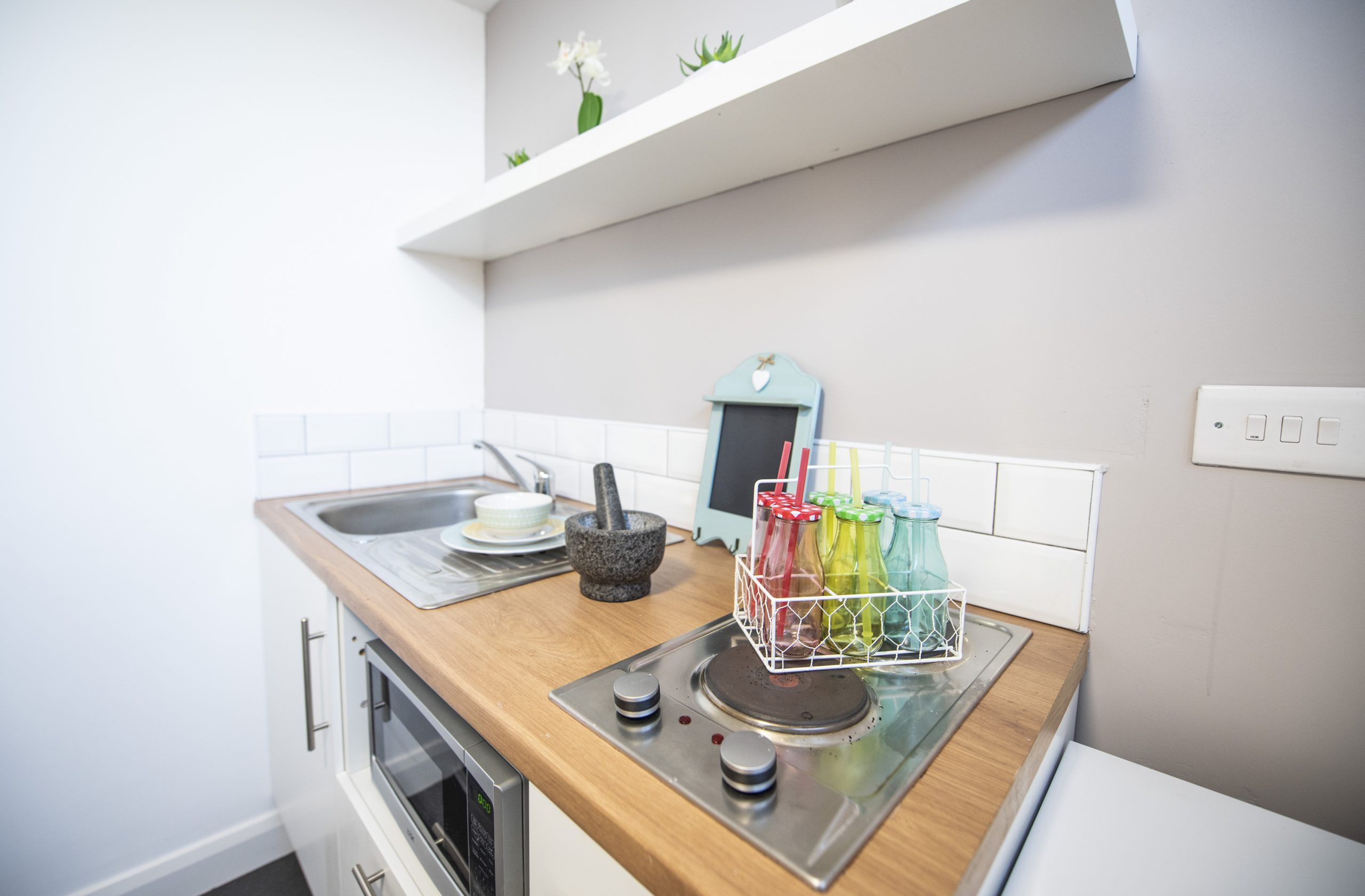 private kitchen area in St Cyprians, The Church Liverpool