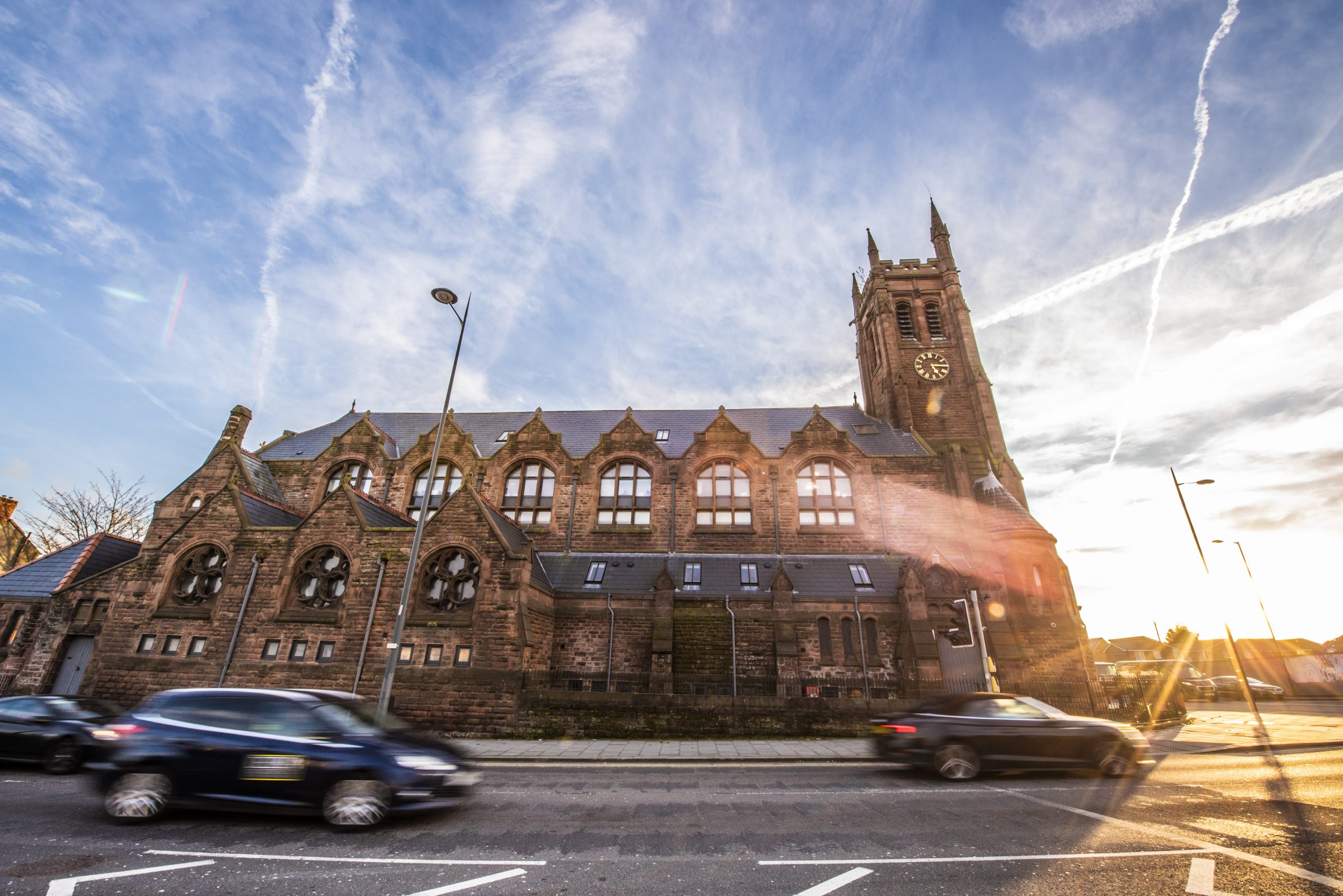 the front of St Cyprians, The Church Liverpool